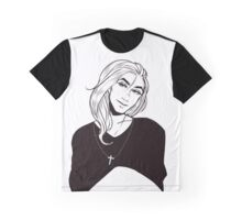 Black and Blue Graphic T-Shirt