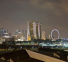 Singapore At Night by Keith Larby