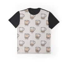 Watercolor Coffee Chart Graphic T-Shirt