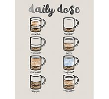 Watercolor Coffee Chart Photographic Print