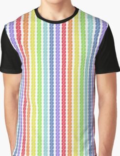 rainbow plait seamless pattern Graphic T-Shirt