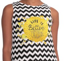 Life is better when you're laughing Contrast Tank