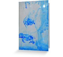 Blue ink in water Greeting Card