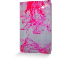Pink ink in water Greeting Card
