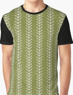 simple green leaf seamless pattern Graphic T-Shirt