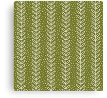 simple green leaf seamless pattern Canvas Print