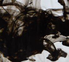 Black ink in water Sticker