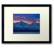 Arctic Sundown Framed Print