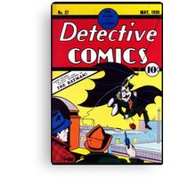 Detectives Comics Issue 27 Products | Batman First Appearence Canvas Print