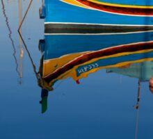 Reflection at Marsaxlokk Sticker