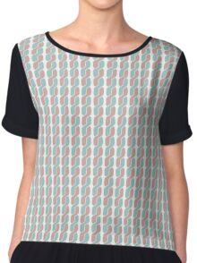 simple retro pattern Chiffon Top