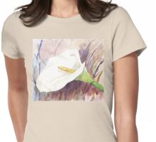 ARUM LILY (Zantedeschia aethiopica) Womens Fitted T-Shirt