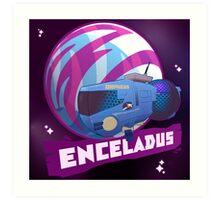 Enceladus Loaded for Space Bear! Art Print