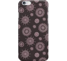 simple seamless doodle flower pink pattern iPhone Case/Skin
