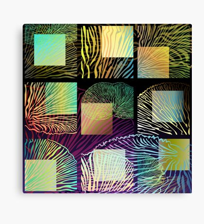 Black oyster mushroom square Canvas Print