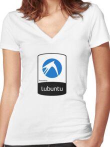 Lubuntu [HD] Women's Fitted V-Neck T-Shirt