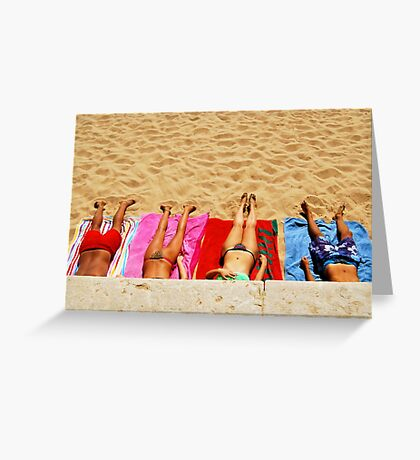getting tanned Greeting Card