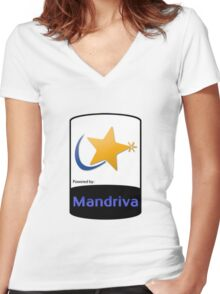 Mandriva [HD] Women's Fitted V-Neck T-Shirt