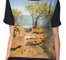 Mangroves at Town Beach Chiffon Top