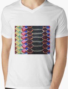 Snake skin Mens V-Neck T-Shirt