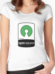 Powered by Open Source ! [HD] Women's Fitted Scoop T-Shirt