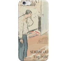 Sheet Music Amoureux! by Sémiane, René Esse and Eugène Poncin, performed by Mévisto Henri Gabriel Ibels () iPhone Case/Skin
