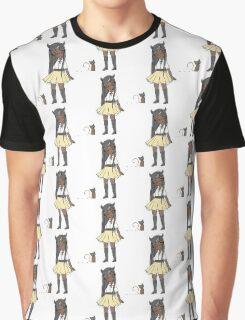 Cat & Banana Graphic T-Shirt