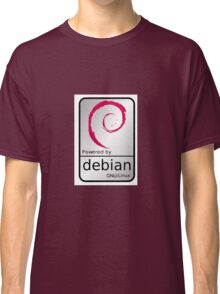 Powered by DEBIAN ! Classic T-Shirt