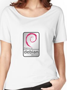 Powered by DEBIAN ! Women's Relaxed Fit T-Shirt