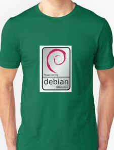 Powered by DEBIAN ! Unisex T-Shirt