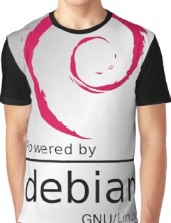 Powered by DEBIAN ! Graphic T-Shirt
