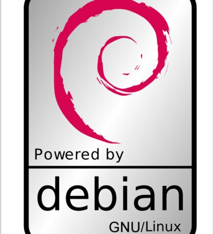 Powered by DEBIAN ! Sticker