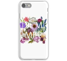 Floral and summer Graphic Design iPhone Case/Skin