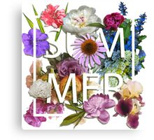 Floral and summer Graphic Design Canvas Print