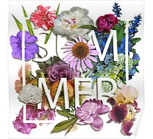 Floral and summer Graphic Design Poster