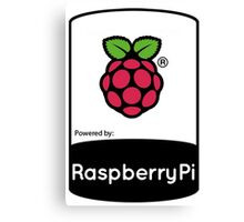 Powered by Raspberry ! Canvas Print