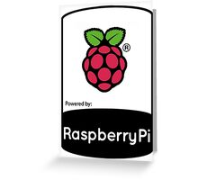 Powered by Raspberry ! Greeting Card