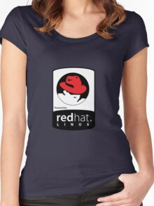 Powered by REDhat ! Women's Fitted Scoop T-Shirt