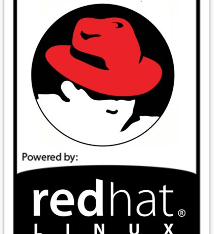 Powered by REDhat ! Sticker