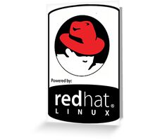 Powered by REDhat ! Greeting Card