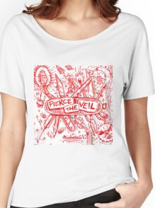 PIERCE THE VEIL MISADVENTURES WHITE 2016 Women's Relaxed Fit T-Shirt