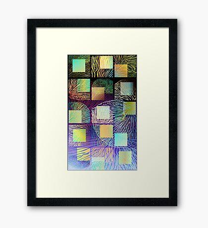 Black mushroom tall Framed Print