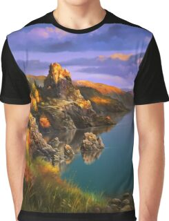 Baycal Lake Landscape Graphic T-Shirt