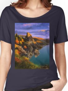 Baycal Lake Landscape Women's Relaxed Fit T-Shirt