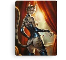 The Royal Cats' Girlfriend Feline Canvas Print