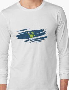 ANDROID EATS APPLE ! Long Sleeve T-Shirt