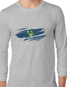 ANDROID EATS APPLE ! Long Sleeve T-Shirt