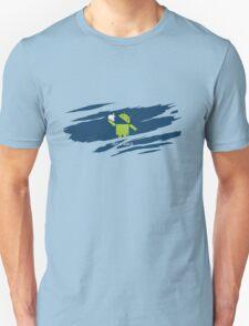 ANDROID EATS APPLE ! Unisex T-Shirt