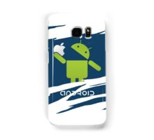 ANDROID EATS APPLE ! Samsung Galaxy Case/Skin