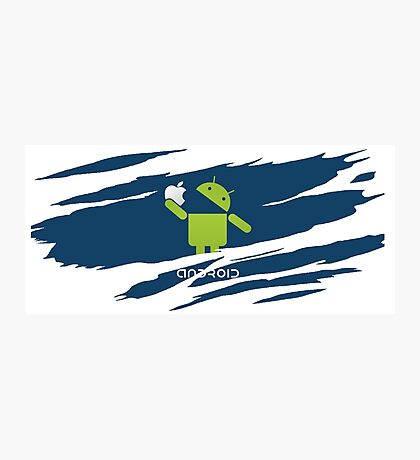 ANDROID EATS APPLE ! Photographic Print